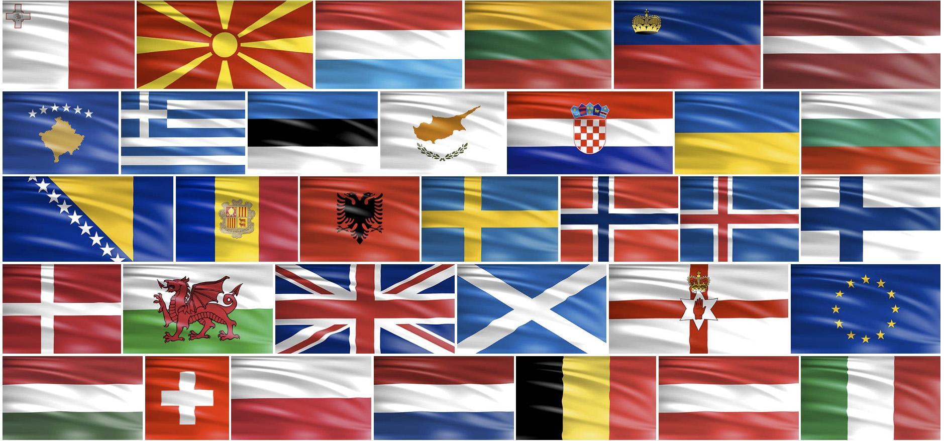 Európai zászlók