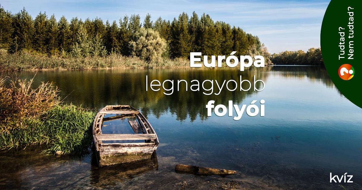 Európa legnagyobb folyói