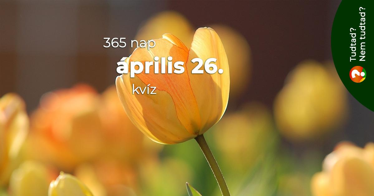 Kvíz - április 26.
