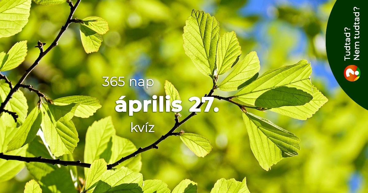 Kvíz - április 27.